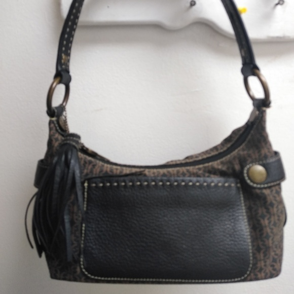 Fossil Handbags - LEATHER & CANVAS FOSSIL PURSE